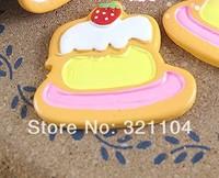 Free ship!!!     Flat cake 40mm simulation cream phone beauty DIY accessory  wholesale