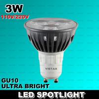 3W LED Spotlight LED Bulb led Lamp cup led Spotlights Gu10 220V 230V 110V factory outlet wholesale Warm white free shipping