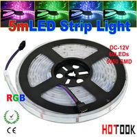 casing pipe LED Strip Light 5050 RGB 60 LED/M 300LED 5M tiras ip67 waterproof Ribbon Flexible 12V 24 key RGB Controller CE RoHS