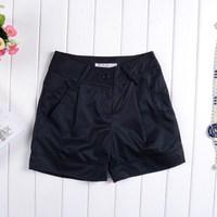 2014 female plus size shorts slim casual shorts female 0108