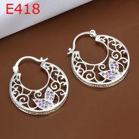 925 silver earrings fashion jewelry earrings beautiful earrings high quality fashion earrings E418