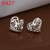 925 silver earrings fashion jewelry earrings beautiful earrings high quality fashion earrings E427