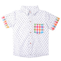 Free Shipping Baby Kids Summer Tops Boys Short Sleeved NEW Style Shirts K6562