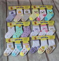 6 pairs 0-16 months baby socks newborn kids cotton socks uc153