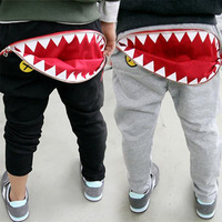 Retail 2014 new spring Big month Trousers,Boys Girls pants,zipper trousers, baby casual pants long trousers Free shipping E908