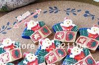 Free ship!!!   Santa Claus gift box 25mm simulation cream phone beauty DIY accessory  wholesale