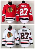 stitched 2014 new Chicago Blackhawks 27# Johnny Oduya Ice Hockey Jersey / Brandon Saad hockey shirt