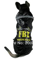 Black Large Dogs Pet Dog's Raincoat  Free shipping  2014 new Clothing for big Dog