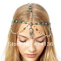Ceative Antique Bohemia Beads Hair Chain