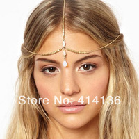 Ceative Indian Forehead Shell Drop Hair Band Chain