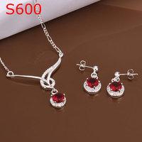 925 silver jewelry set, fashion jewelry,Nickle free antiallergic silver fashion jewelry set S600
