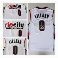 Rip City Portland #0 Damian Lillard New Fabric REV 30 White Basketball Jerseys, Cheap New Material Sport Jersey