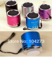 Portable Speaker SZ12 mini music speaker colorful lights Stereo FM USB Sound Box With LED Screen & Clock