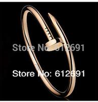 New 18K nail bracelets charms plated bracelet couple bracelets fashion Korean bangle  jewelry LM-L020