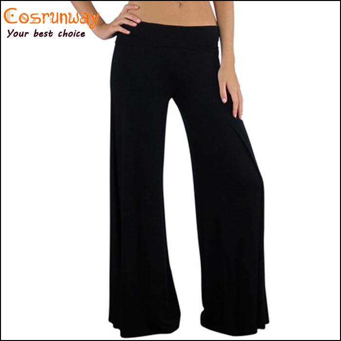 caliente venta nuevo de la marca 2014 las mujeres casual pantalones sueltos de la mujer en zigzag palazzo pantalones de pierna ancha 5 colores