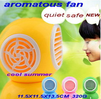 2014 new arrival summer USB fragrant mini water mist spray fan Bladeless aromatous fan 11.5x11.5x13.5cm 320g free shipping