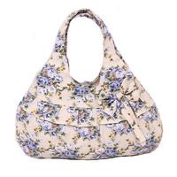 Free shipping 2014 Hot sale canvas handbag Small flower printed cloth shoulder bag for girls Women leisure  tote bag Makeup bags