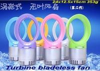 2014 new arrival summer USB turbine bladeless fan Bladeless aromatous fan 24x12.5x15cm 353g free shipping