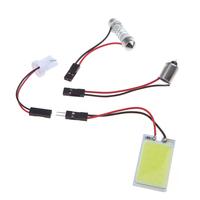 Universal White 5W COB Chip LED Car Interior Led Light COB Led T10 BA9S Adapter Festoon Dome Adapter for All Car