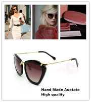 2014 Cat Eye Sunglasses Women Oculos Sun glasses Designer Butterfly Original Luxury Elegant Free Shipping mu10n