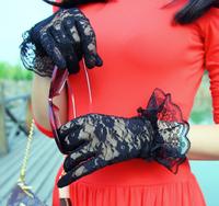 Free shipping summer girl lace flower dress women's lace driving skid resistance anti-uv gloves women full gloves