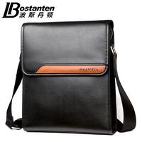 men commercial cowhide shoulder bag male messenger document lather-bag b11151