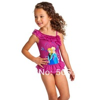 1404z retail Beach Supplies girls Swimwear Swim Wear One Piece Swim Bodysuit Frozen Anna & Elsa Purple Frozen Swim 38356608624