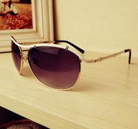 Metal rivet frog glasses Women frame large size sunglasses sunglasses frame