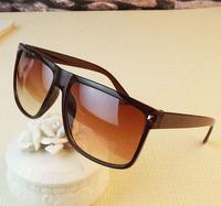 2014 fashion  glasses unisex elegant frame hot-selling large frame sunglasses vintage rivet sunglasses