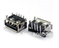 Free shipping 100 / lot USB short Female 4 legs Connector PCB Socket