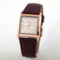 New Fashion Women Women Dress Watch Casual Dress Clock Square Quartz Wristwatch Leather Strap Watches QZ3609