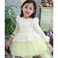 Korean version of the brand jumpsuit girls princess dress original single children's clothing