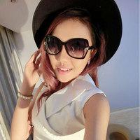 2014 hot sale  brand designer vintage Women's sunglasses elegant  larger frame sunglasses  x bow metal accessories frog mirror