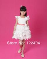2014 summer new children's clothing children wear small girls lace dress