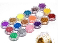 New Arrival 18 Colors Nail Art Glitter Powder Dust For UV GEL Acrylic Powder Decoration nail glitter
