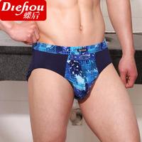 181 male trigonometric panties cotton print 100% men's 100% cotton u breathable plus size panties belts