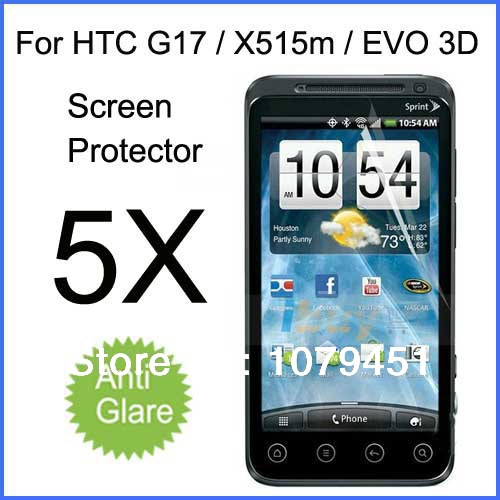 "Free Shipping!5pcs For HTC EVO 3D G17 4.3"" ,Matte Anti-glare For HTC G17 a810 screen protector protective film(China (Mainland))"