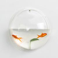 Miucolor meters self-shade circle acrylic wall aquarium mini plexiglass fish tank