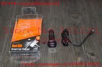 10pcs/lots DC12-24V Dual USB 2Port Smart Car Charger For:iPhone iPad Galaxy Tab More Smart Phones free shipping