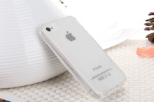 Ultra Thin Case for iPhone 4s Slim Matte Soft TPU Transparent Cover Case for iphone 4 4G cases Free shipping(China (Mainland))