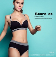 Free shipping 243 Wireless push up anti-sagging bra seamless breathable sweat absorbing adjustment bra sports underwear