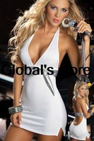 Europe and America new Slim package hip sexy tight cotton pajamas Lingerie Halter halter dress bottoming