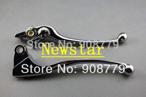 Free shipping New Motorcycle Chrome Brake & Clutch Levers Set For Kawasaki Ninja ZX6R 2000 2001 2002 2003 2004(China (Mainland))