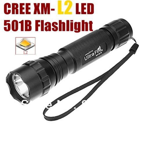[해외]UltraFire 501B 1 모드 크리어 XM-L2 크리는 토치 스포트 ..