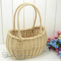 Liubian rustic rattan storage basket handbag cosmetic bag basket clutch liubian straw braid remote control