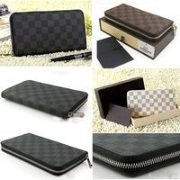 HOT SALE 2014 New Popular Fashion Designer Classic Plaid PU Leather Wallet Women's Wallet Clutch Wallets SS330
