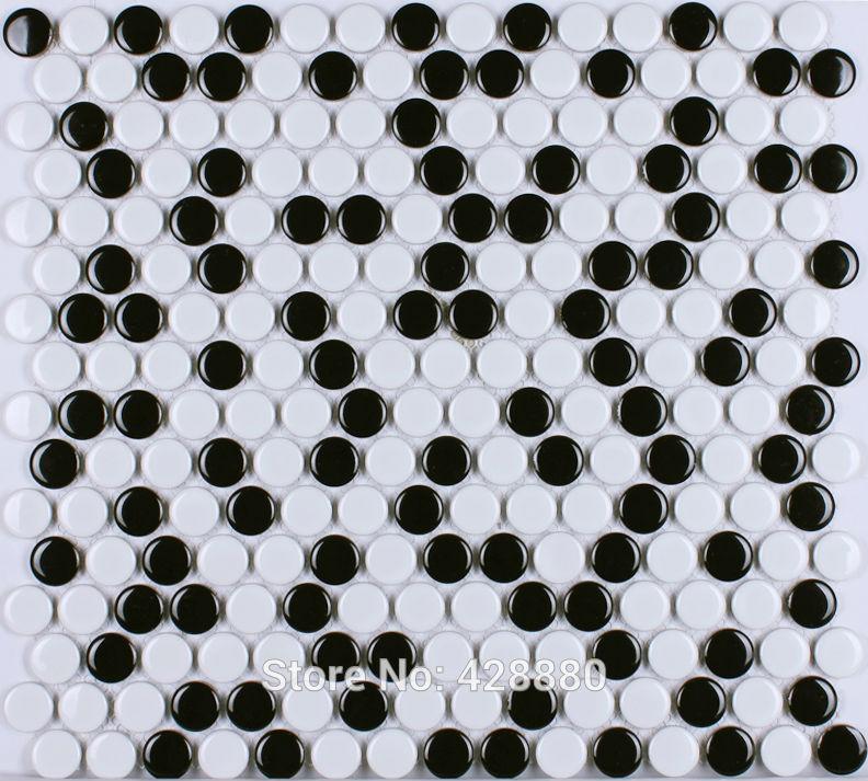 Dusche Mosaik Rund : Penny Mosaic Porcelain Tile