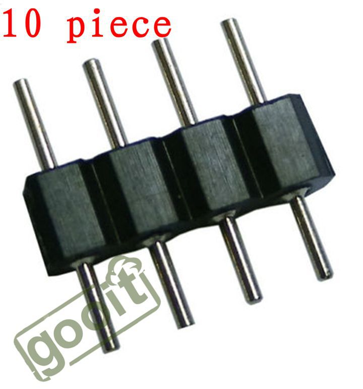 10pcs 4 pin plug male to male rgb connector for 3528 5050. Black Bedroom Furniture Sets. Home Design Ideas
