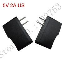 Free shipping 5v2a usb charger 100% new 10pcs/lot US 10W wall mount switching power supply source ac dc adapter 110V transformer