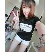 2014 c . o . i ballinciaga fashion trend of the short-sleeve T-shirt lovers women clothing